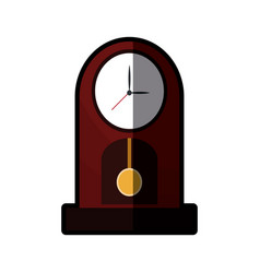 Clock pendulum time classic shadow vector