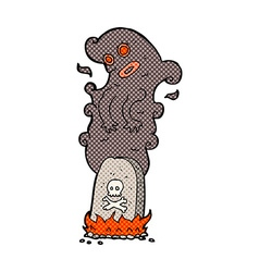 Comic cartoon haunted grave vector