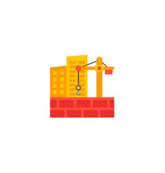 construction site icon flat element vector image