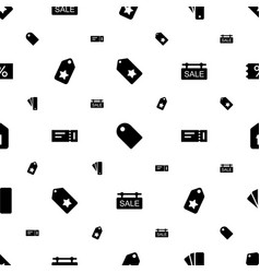 coupon icons pattern seamless white background vector image