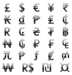 currency symbols of the world vector image