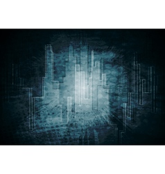 dark tech background vector image