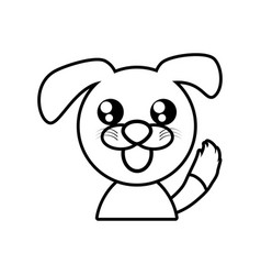 Dog animal toy outline vector