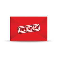 download red closed envelope vector image