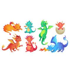 dragon kids fantasy badragons funny fairytale vector image