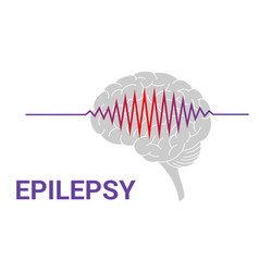 Epilepsy icon vector