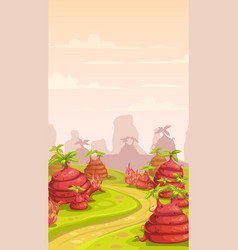 fantasy world scene vector image
