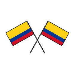Flag of colombia stylization of national banner vector