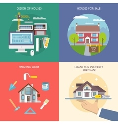 Flat House Set vector
