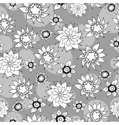 Floral vintage hand-drawn seamless pattern vector image
