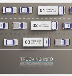 Freight transportation info vector