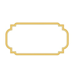 Gold frame Beautiful simple golden design white vector