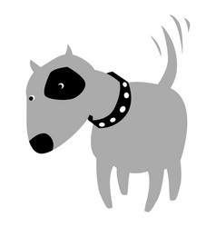 gray dog with a thoughtful look vector image