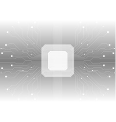 grey abstract circuit board chip background vector image