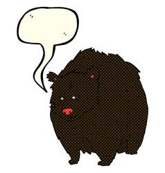 huge black bear cartoon with speech bubble vector image