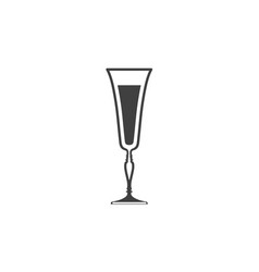 Icon of wine glass with liquid inside isolated vector