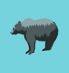 In flat style bear vector