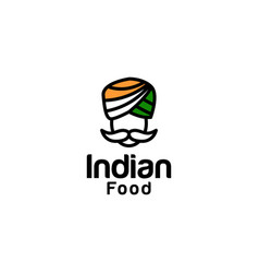 indian food logo design inspiration vector image