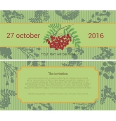 Invitation to the flower sale vector