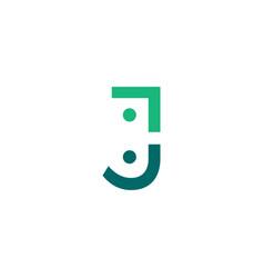 J letter people team family together human logo vector