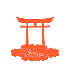 Japan gate isolated on white background vector image