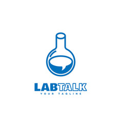 lab talk logo vector image