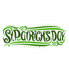 lettering for saint patricks day vector image