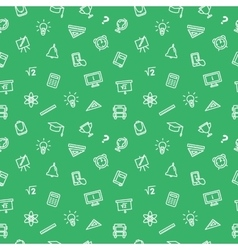 line style seamless pattern Cute back to vector image