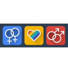 Love gay flat icon vector image