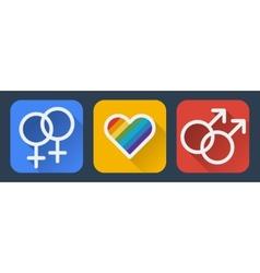 Love gay flat icon vector
