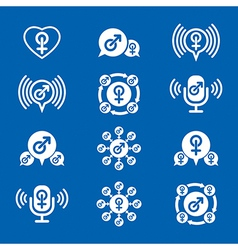Male gender creative and unusual icons set symbols vector