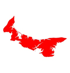 Map of Prince Edward Island vector image