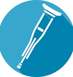 Metal Crutches Icon vector image