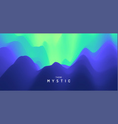 mysterious landscape background mystic trendy vector image