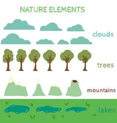 Nature Design elements Build your own Landscape vector