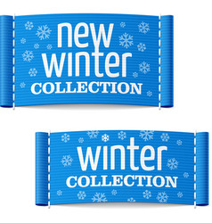 New winter collection clothing labels vector