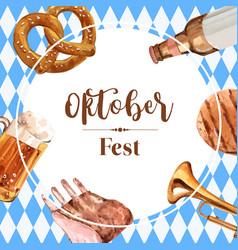 Oktoberfest frame with feast celebration alcohol vector