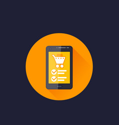 online order purchase e-commerce icon vector image