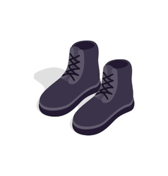 Pair of male boots icon isometric 3d style vector image