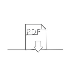 pdf one line drawing vector image