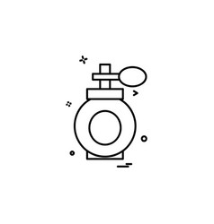 perfume icon design vector image