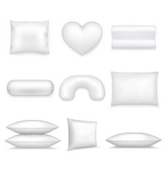 Pillows realistic icon set vector