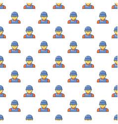 Plumber man face pattern seamless vector