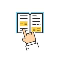 Reading Book Encyclopedia vector