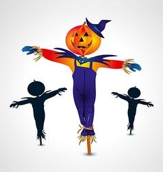 Scarecrows halloween symbol vector
