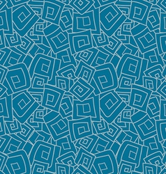 Seamless pattern from squares spirals rhombus vector image