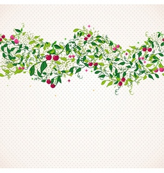 Seamless pattern garland with cherry vector image