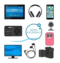 Set of gadgets and consumer electronic devices vector