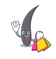 shopping hair character cartoon style vector image