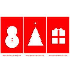 simply christmas gift tags set vector image